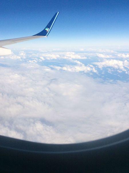 Avião Cloudscape Aerial View Nature Day Mode Of Transport Transportation Altura First Eyeem Photo