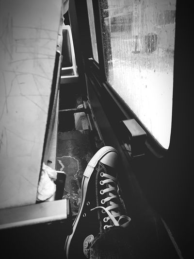 Waiting for my stop Rami Bdiri Triste Dimanche Sunday Lazy Morning Cold Days Raining☔ Shoe Real People Personal Perspective Low Section One Person Human Leg Human Body Part Day Transportation