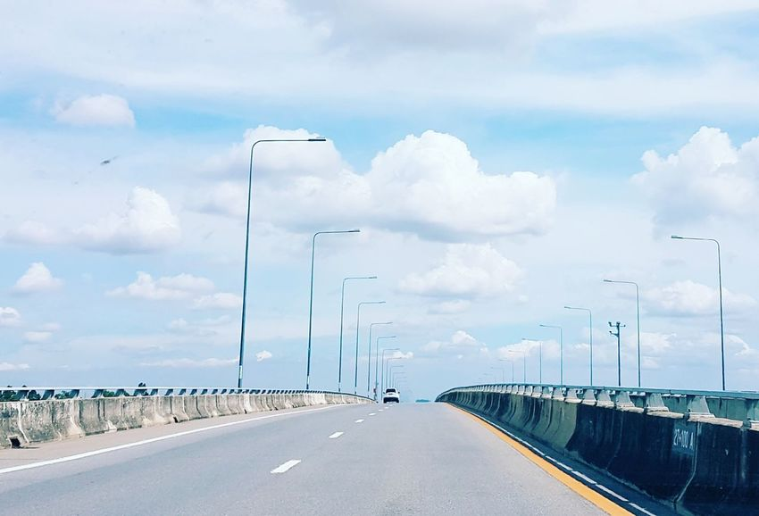 Road Trip Road Outdoors Transportation Day No People Cloud - Sky Speed Sky Technology Backgrounds High High Way High Way View Cross Car Alone Trip Trippy! City