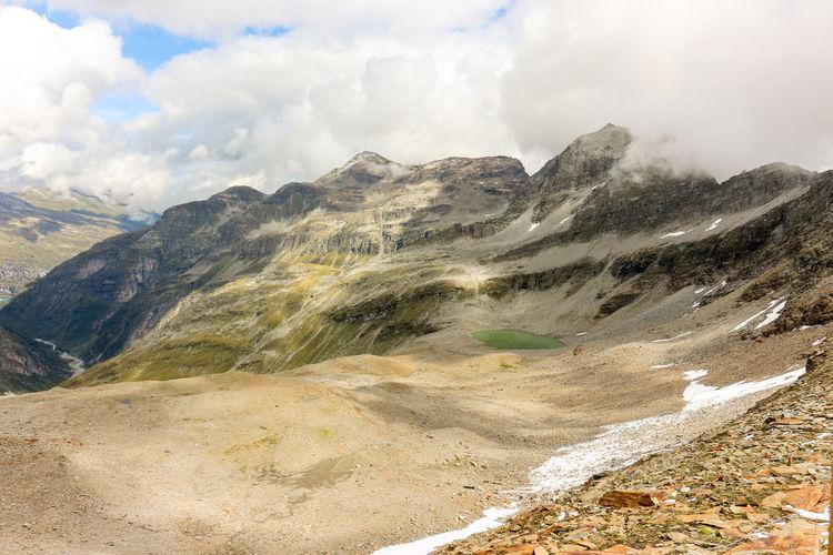 Gravel landscape in the swiss alps