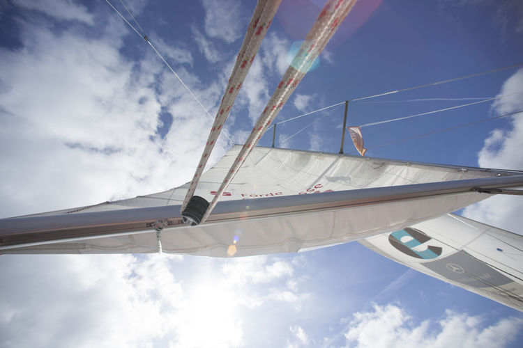 Cloud - Sky Low Angle View Mast Nature Sailboat Sailing Sky Sunlight Travel
