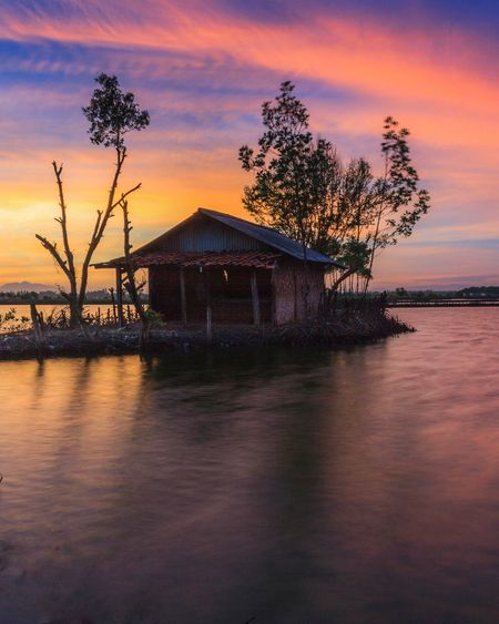 Sunrise on Tanjung Pasir Tree Sky Water Nature No People Silhouette Outdoors Landscape Long Exposure Cloud - Sky House Architecture
