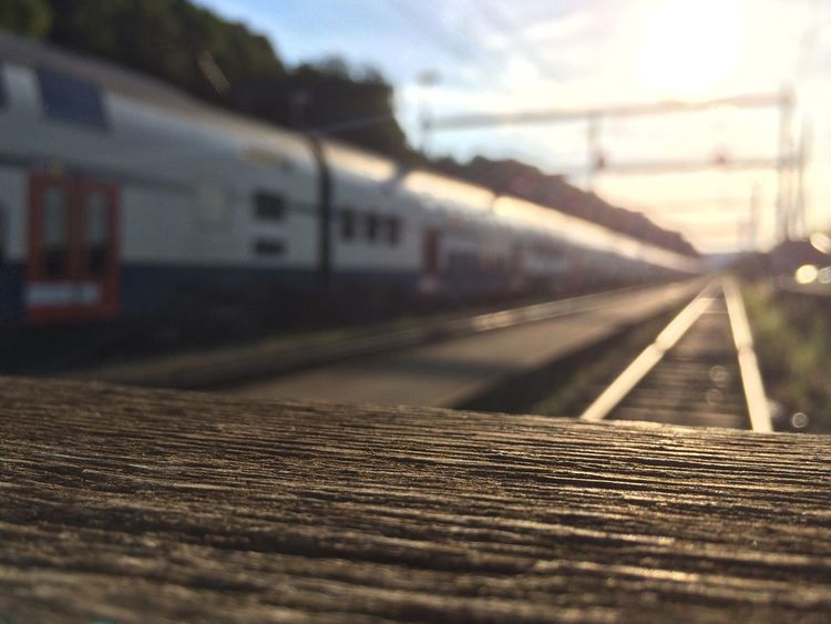SBB Public Transportation IPhoneography Buffer Stop Sunset Sunset_collection Train Station Railway Track Railroad Track IPhone 5S My Commute