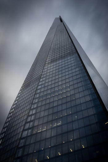 Architecture Built Structure Building Exterior Sky City Office Building Exterior Modern Building Low Angle View Tall - High Office Cloud - Sky Skyscraper Glass - Material No People Tower Nature Illuminated Reflection Outdoors Shard London EyeEmNewHere The Architect - 2019 EyeEm Awards