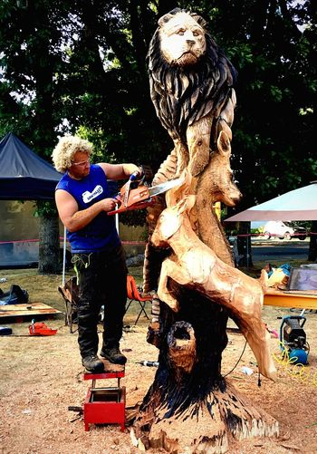 Ryan Cook Chainsaw Art Sculpture Competition AMPt Community IPhoneography TALENTED PEOPLE Wood Carving Art