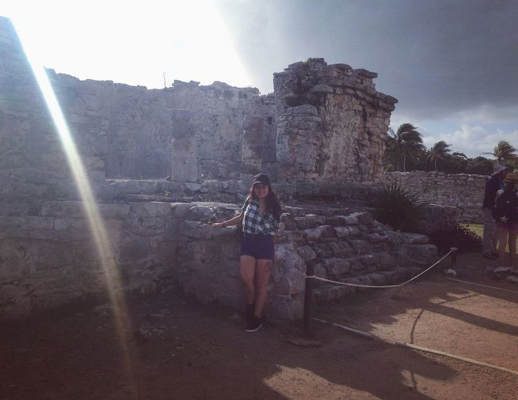 Ruinas Mayas 🦁 EyeEm Nature Lover Recuerdos♥ Memories EyeEm Best Shots Cancun Mexico Tulum Real People Sky One Person Full Length Old Ruin History Leisure Activity