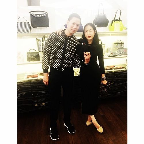 With @tasteofnowhere at @lulu_guinness_thailand @lulu_guinness Lulu_guinness_thailand Lulu_guinness Spring-Summer 2014 collection press presentation 💋❤️