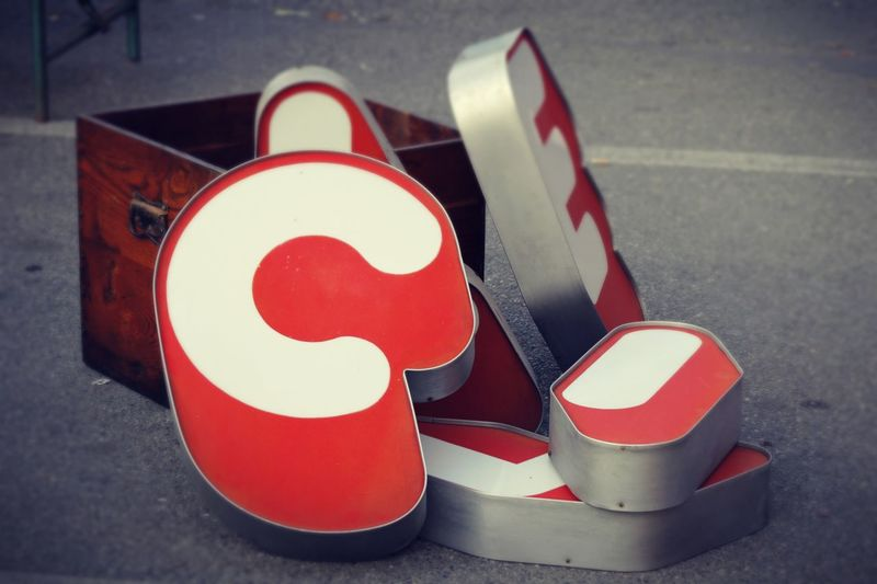 Alphabet Alphabetical & Numerical Group Of Objects Letter Lettering Outdoors Red Shape Signage EyeEmNewHere Neon Sign Art Is Everywhere Rethink Things