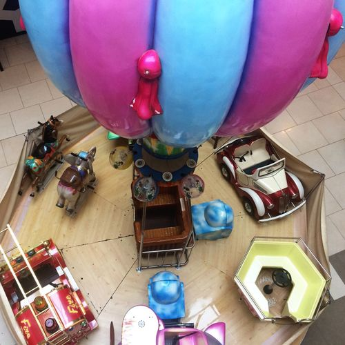 Amusement carousel Balloon Multi Colored Carousel Amusement Park Amusement Ride Children Leisure Activity Children Activity