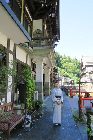 Japanese Hotel KimonoStyle Traditional Clothing Architecture Building Exterior Built Structure One Person Portrait