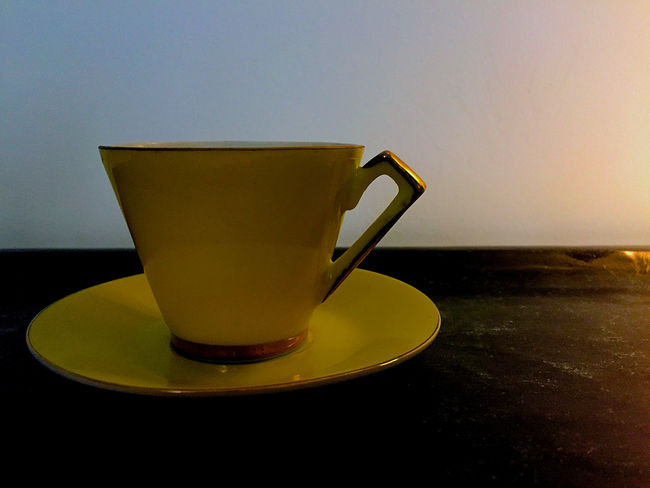 Background For Quotes Background Photography Close-up Coffe Cup Day Design Drink Espresso Time Food And Drink Freshness Indoors  No People One Cup One Cup At A Time Presentation Background Refreshment Still Life Photography Stilleben Vintage Coffee Cups Vintage Espresso Cup Yellow Yellow Color