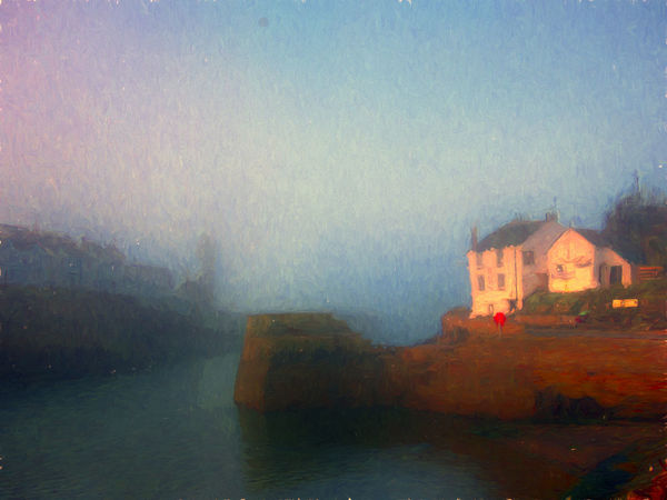 Architecture Art Building Exterior Built Structure Cornwall Day Digital Art Fog House Nature No People Oil Painting Outdoors Porthleven Residential Building Sea Sky Water