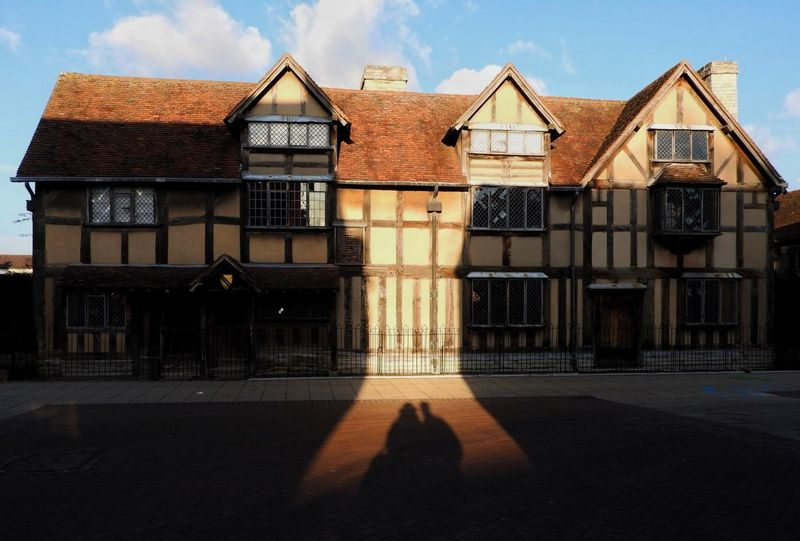 Architecture Birth Place Blue Sky Building Building Exterior Couple Culture Famous People Famous Place Famous Places Happy Historic History House Love Old Old Buildings Plays Poetry Shadows Stratford-upon-Avon Sun William Shakespeare Window Writor