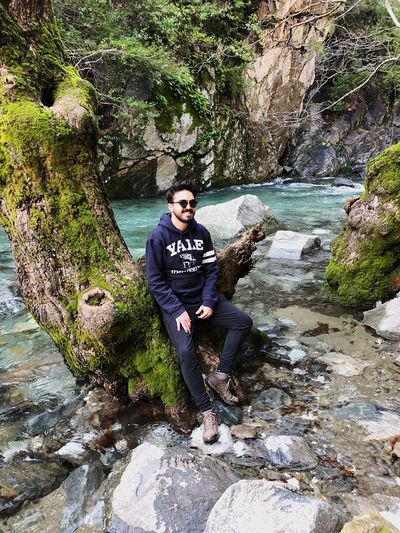 Amazing waterfalls in Turkey. Zara Yale University Yale Water Real People One Person Leisure Activity Young Men Lifestyles Full Length Nature Young Adult Glasses Men Going Remote