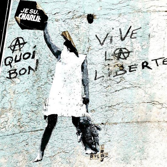 à quoi bon... vive la liberté Streetphotography Art Streetart Le Marais Paris Graffiti Memories Eyemphotography Art, Drawing, Creativity Modern Art