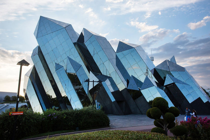 Futuroscope Theme Park Futuroscope Theme Park | Poitiers - France Futuroscope2017 Leisure Park Modern Architecture Architecture Cloud - Sky Day No People Outdoors Sky