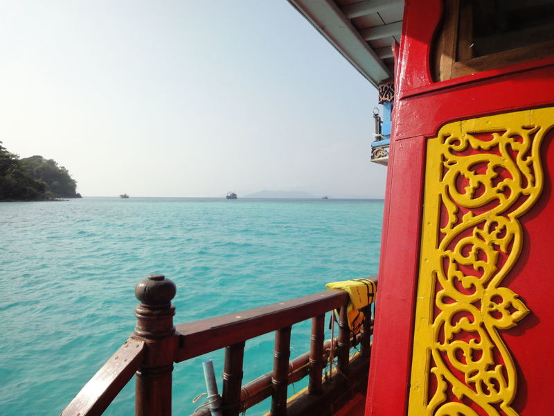 Boat Seaside Water Thailand Ko Chang Colorful