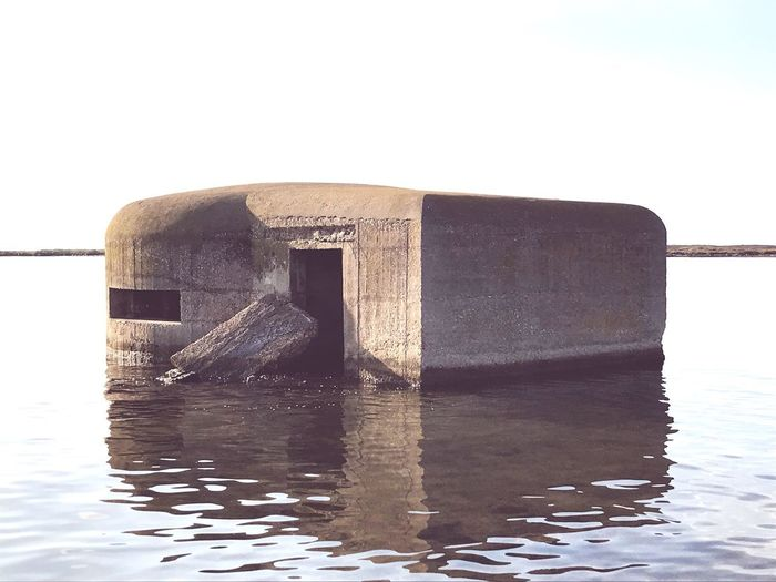 Beton Abandoned Mystical Place Bunker Built Structure Water No People Sea Nature Close-up Waterfront Outdoors Abandoned Wet Reflection