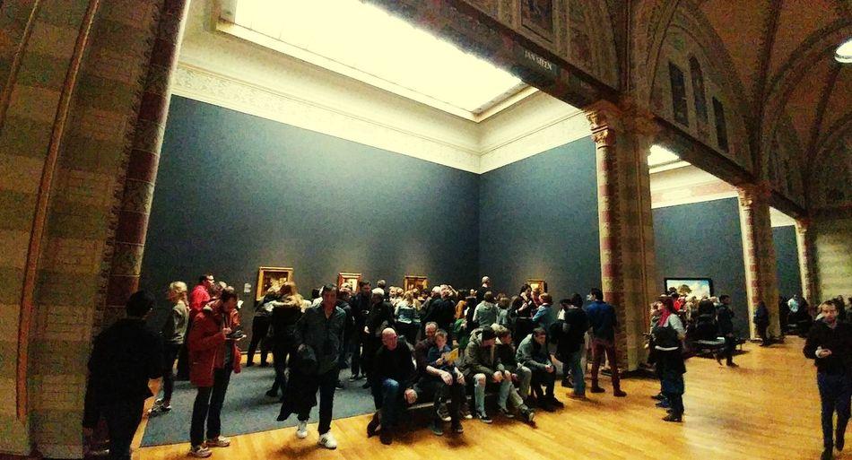Art goers Gallery Holland Observers Amsterdam Rijksmuseum Dutch Masters  Art People Watching Gallery Audience