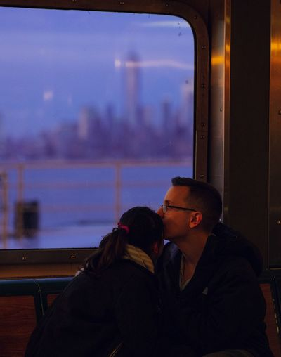 - Love on the Ferry Portrait Photography NYC Eye4photography  EyeEm Gallery Travcimages Photooftheday City View  Picoftheday Love Two People Togetherness Positive Emotion Couple - Relationship Emotion Women Romance Affectionate Embracing