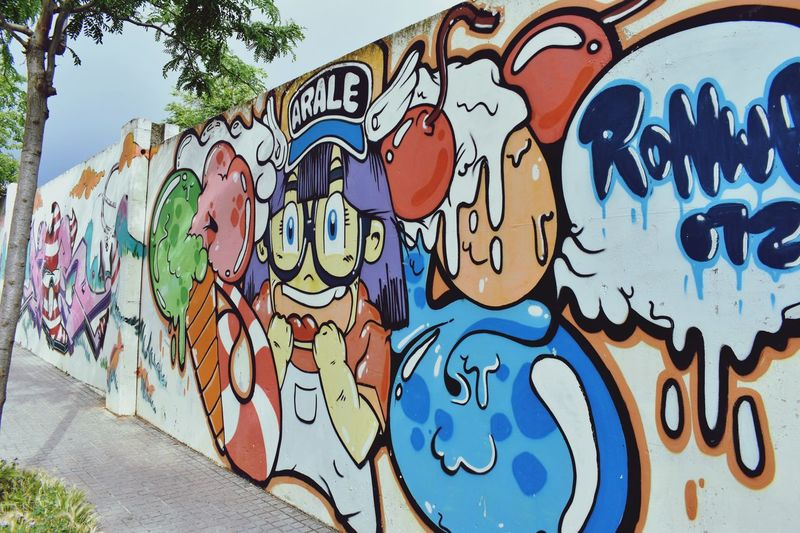 Artecallejero Arale EyeEm Selects Creativity Art And Craft Graffiti Wall - Building Feature Street Art Multi Colored Representation Pattern Mural Design