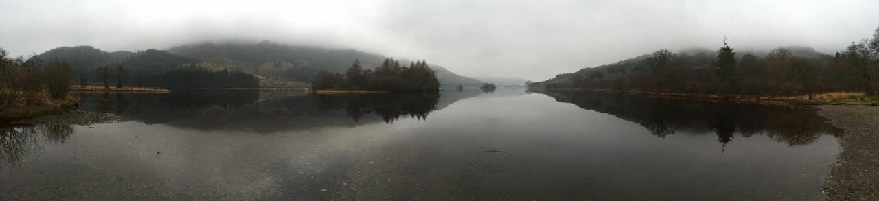 Panorama Loch Chon Misty Morning Still Waters Reflections In The Water Tranquil Scene Nature Photography Outdoor Photography