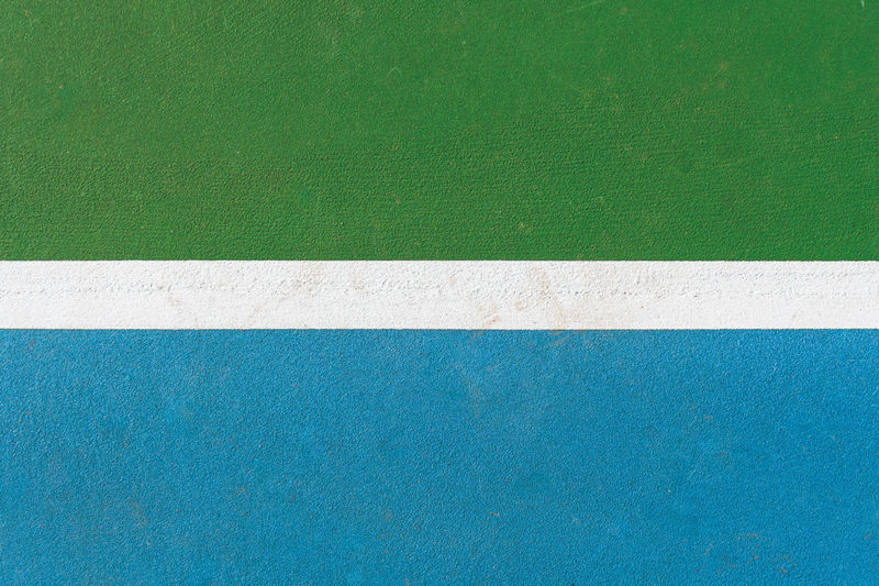 tennis court lines Architecture Blue Close-up Day Directly Above Dividing Line Green Color Lines And Angles Lines And Shapes No People Tennis Court Textured  White Lines