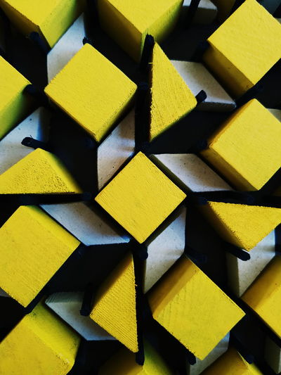 yellow Yellow Backgrounds Full Frame Arrangement Variation Stack Multi Colored Pattern Geometric Shape Close-up Diamond Shaped For Sale Repetition Triangle Shape Square Shape