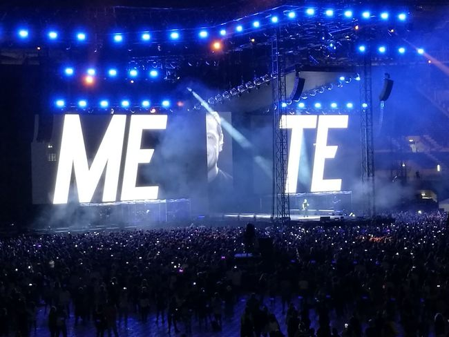 Me & Te Tiziano Ferro Tour 2017 The Purist (no Edit, No Filter) Stadio Olimpico 30/Giugno/2017 Arts Culture And Entertainment Capture The Moment Color Photography Rome Italy🇮🇹 Music Fan - Enthusiast Performance Stage - Performance Space Live Event Night Performing Arts Event Illuminated Light And Shadow Music Festival Communication Music Popular Music Concert Crowd Outdoors Neon People