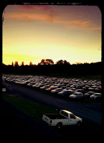 One vehicle was out of place... Beautiful Sunset Cars Carparkporn Precision Outofplace
