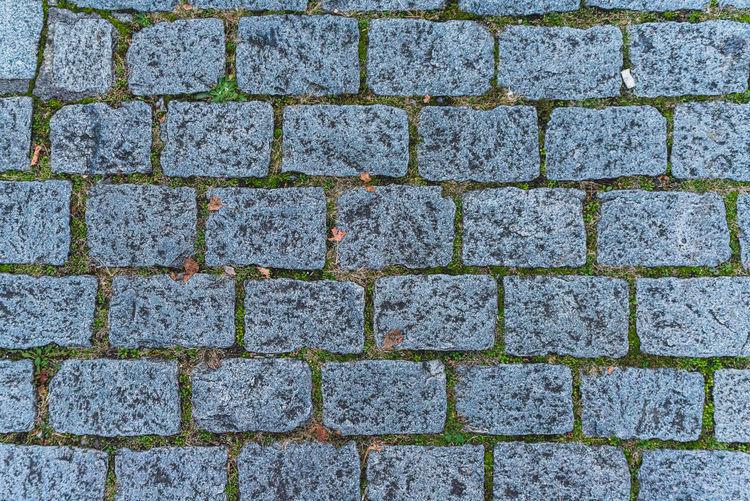 Full frame shot of cobblestone street