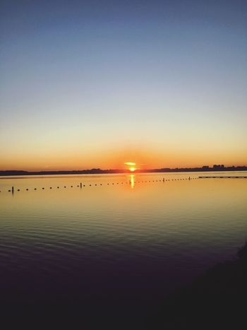 Untill we meet again Sky Water Scenics - Nature Sunset Beauty In Nature Tranquility Tranquil Scene Reflection Sun Outdoors Horizon Over Water No People Horizon Nature Orange Color