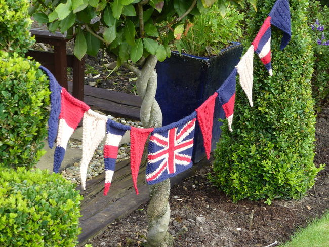 British Flag Knitted Bunting Union Jack Flag Union Jack Knitted Union Jack Fabric Texture Knitting