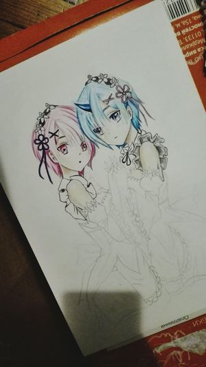 Re Zero Creativity Drawing - Art Product Art And Craft Artist Painted Image Anime :3 ^.^'  Illustration Art, Drawing, Creativity