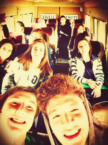 Selfie Schoolbus Smileee(: