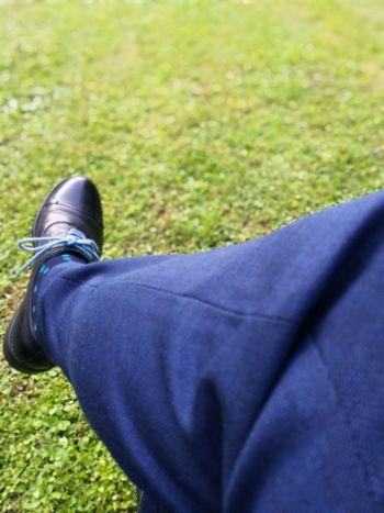 My leg EyeEmNewHere Low Section Men Standing Human Leg Shoe Blue Close-up Grass Casual Clothing