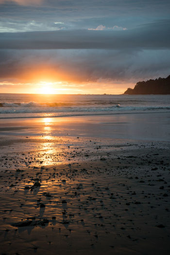 Costa Rica Beach Beauty In Nature Nature Scenics Sea Sunset Tranquil Scene Tranquility Water