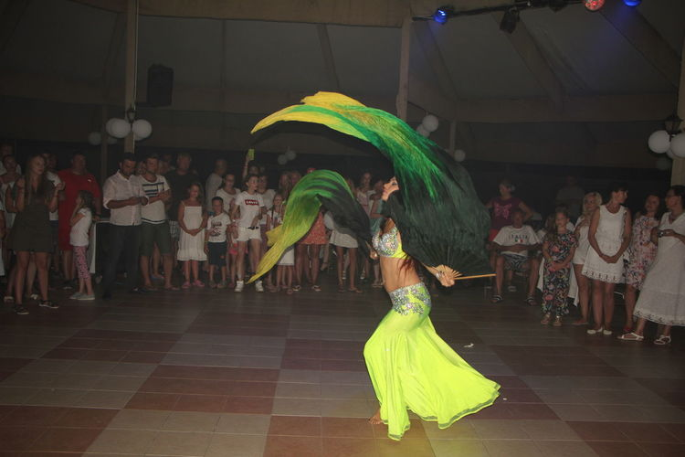 Arabic women dancer. Real People Group Of People Women Dancing Costume Arts Culture And Entertainment Motion Skill  Enjoyment Traditional Dancing