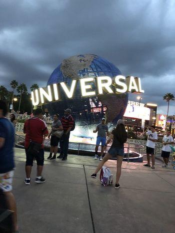 Universal Studios Real People Group Of People Text Crowd Western Script Building Exterior Men