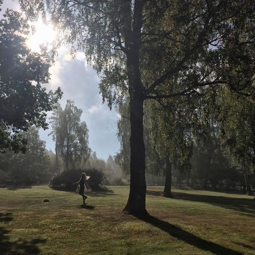 Fairy dancing in morning dew Twirling Woman Dancing Girl Fog Dew Morning Light Tree Grass Nature Field Growth Green Color Real People Outdoors EyeEmNewHere Inner Power Summer Exploratorium Analogue Sound