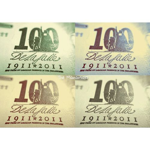 100 La Salle || Macro shot from 2011 100-peso bill 100lasalle 100delasalle Delasallephilippines 100yearsoflasallianpresenceinthephilippines dlsu animo lasalle themanansala photography