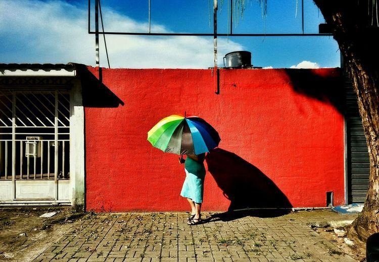 Enjoying Life Rainbow Rainbow Colors Umbrella Street Photography Street Life Streetphotography Street Streetphoto Colour Of Life The City Light The Week On EyeEm EyeEmNewHere