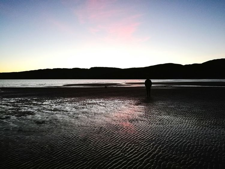 Reflection Sunset Beauty In Nature Outdoors Landscape One Person One Man Only Silhouette Water Sky Nature Scotlandsbeauty Scotland Argyll And Bute