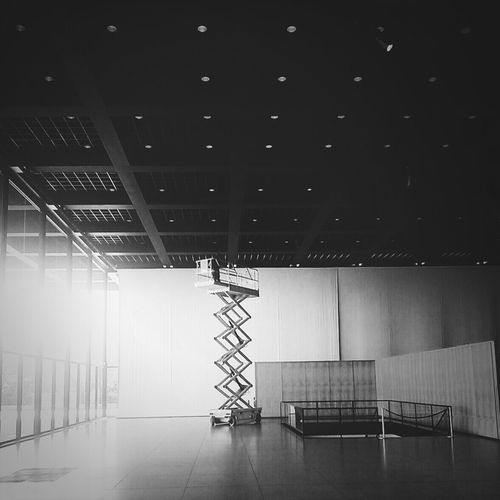 Arranging the stars for tonight Berlin Architecture Hamburger Bahnhof Black And White