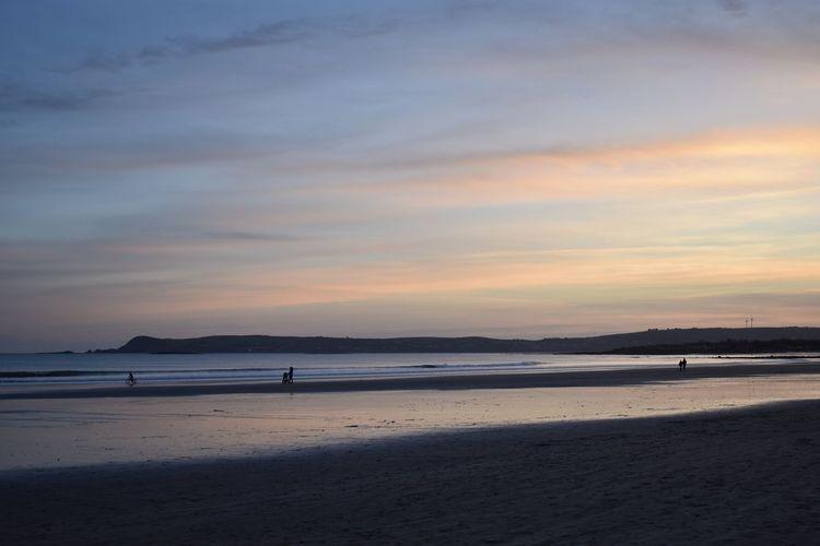 Shadows Beach Sea Sunset Water Sand Scenics Beauty In Nature EyeEmNewHere