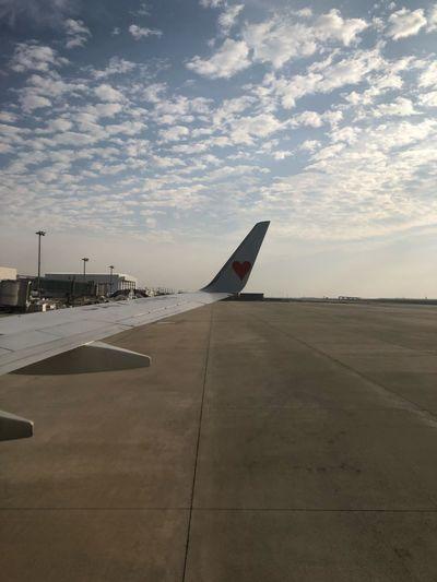 神戸に着。 本日も早い到着と安全運航、ありがとうございました☆ #スカイマーク #SKYMARK Skymark Skymark Airlines Sky Air Vehicle Airplane Cloud - Sky Airport Transportation Aircraft Wing