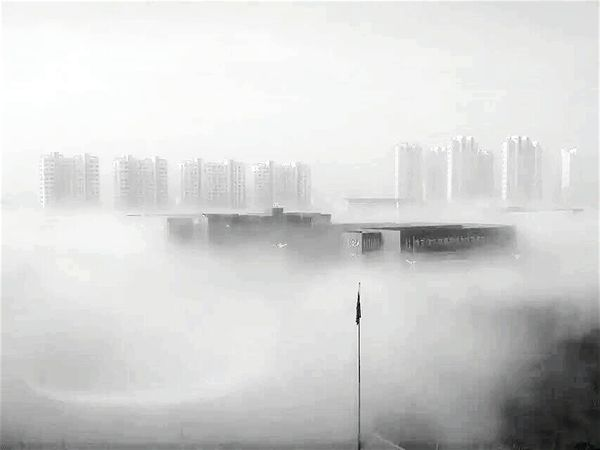 Black And White My Campus Fog City Not Beautiful Rizhao Googmorning