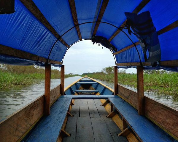 Lancha time Boat River Amazon Amazonas Rainforest Travel Peru Heat Colombia Blue Transportation Water No People Day Lake Outdoors Nature