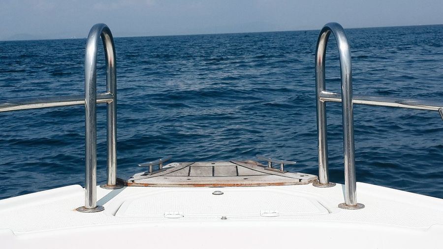 Boat With Sea Water In Background