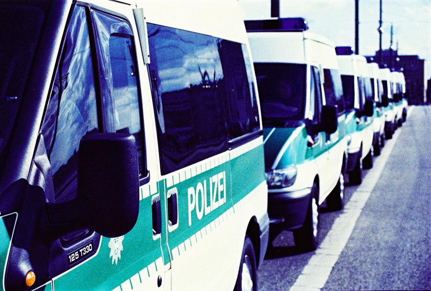 Berlin Kreuzberg Parking Police Police Cars Polizeiautos Street Life Transportation